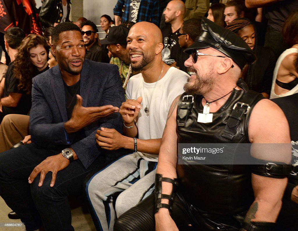 Michael Strahan and Common attend Kanye West Yeezy Season 2 during New York Fashion Week at Skylight Modern on September 16, 2015 in New York City.