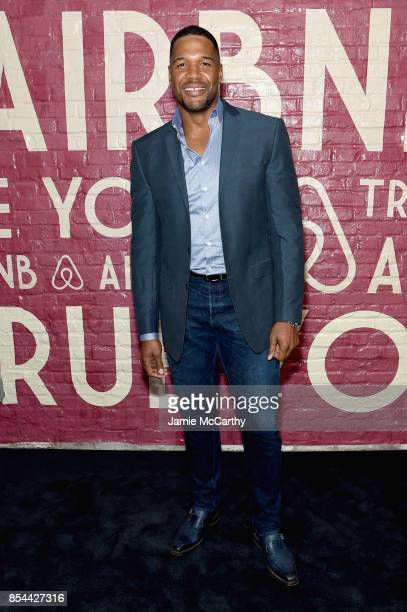 Michael Strahan attends Airbnb's New York City Experiences Launch Event on September 26 2017 in the Brooklyn borough of New York City City