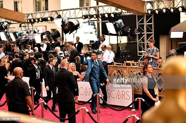 Michael Strahan attends the 88th Annual Academy Awards at Hollywood Highland Center on February 28 2016 in Hollywood California