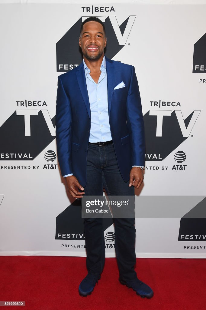 Michael Strahan attends the Tribeca TV Festival season premiere of Religion of Sports at Cinepolis Chelsea on September 22, 2017 in New York City.