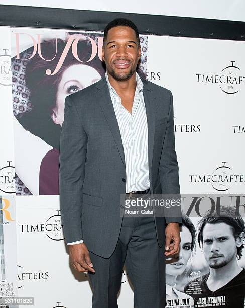 Michael Strahan attends Timecrafters opening night at Park Avenue Armory on May 12 2016 in New York City