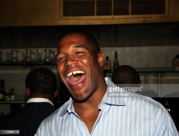 Michael Strahan during Michael Strahan and New York Law Firm Dreier LLP Hold a Chartiy Event with Jon Bon Jovi at Tao July 9 2006 at Tao in New York...