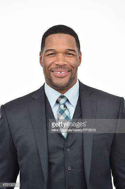 Michael Strahan from 'Play it Forward' appears at the 2015 Tribeca Film Festival Getty Images Studio on April 16 2015 in New York City