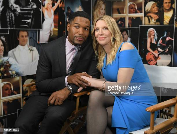 AMERICA Michael Strahan interviews Courtney Love on 'Good Morning America' Wednesday June 7 2017 on the ABC Television Network MICHAEL