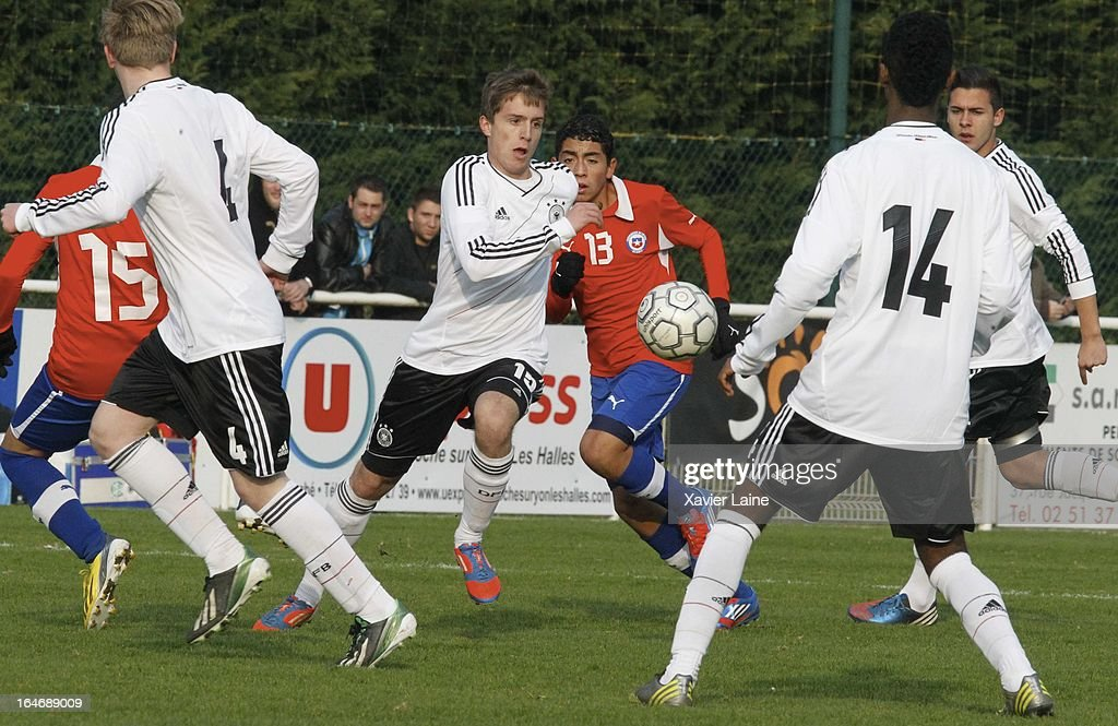 Michael Strein of Germany during the International Friendly match between U16 Germany and U16 Chile on March 26, 2013 in La Roche-sur-Yon, France.