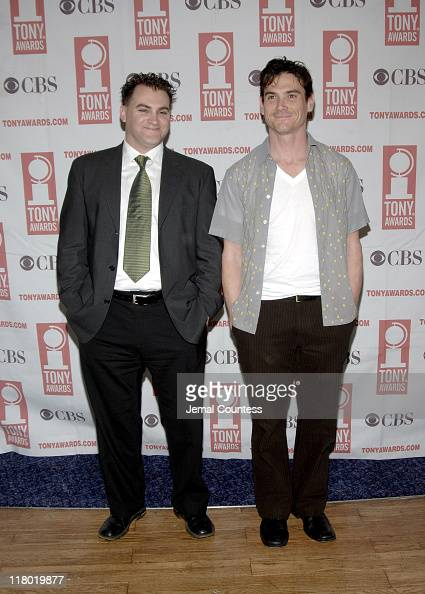 Michael Stuhlbarg and Billy Crudup during 59th Annual Tony Awards 'Meet The Nominees' Press Reception at The View at The Marriot Marquis in New York...