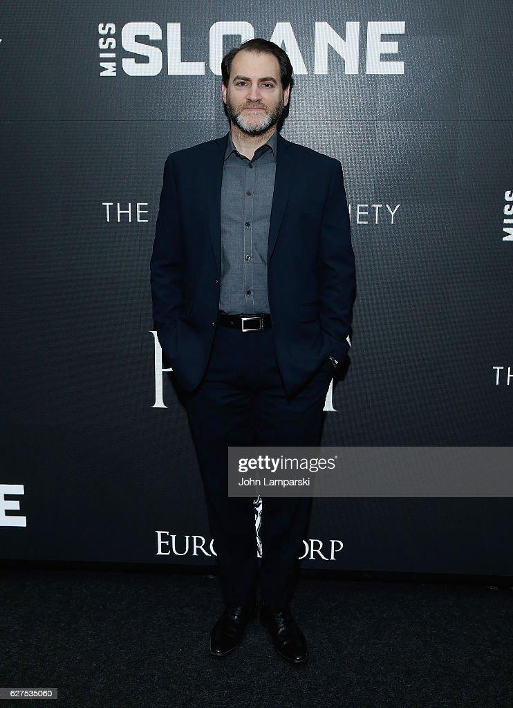 Michael Stuhlbarg attends Cinema Society 'Miss Sloane' screening at SAG-AFTRA Foundation Robin Williams Center on December 3, 2016 in New York City.