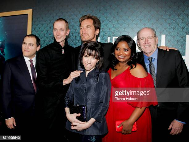 Michael Stuhlbarg Doug Jones Michael Shannon Sally Hawkins Octavia Spencer and Richard Jenkins attend the premiere of 'The Shape Of Water' at Academy...