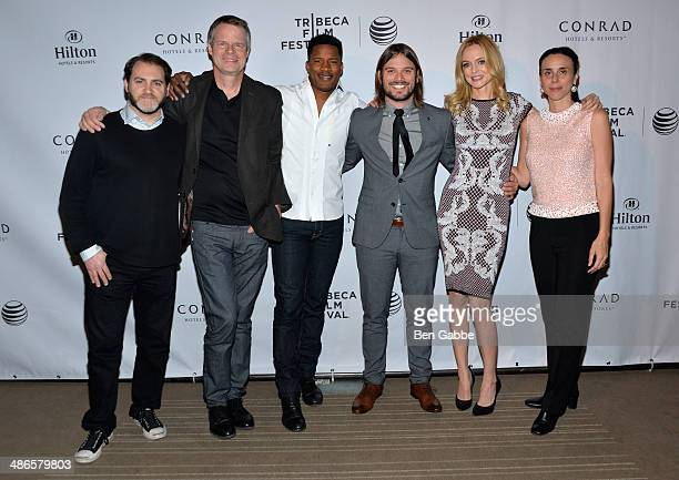 Michael Stuhlbarg Doug Pray Nate Parker Alan Hicks Heather Graham and Rebecca Cammisa attend the TFF Awards Night during the 2014 Tribeca Film...