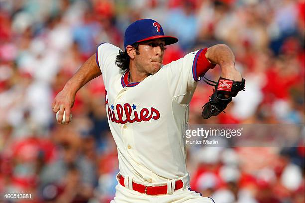 Michael Stutes of the Philadelphia Phillies during a game against the New York Mets at Citizens Bank Park on June 22 2013 in Philadelphia...