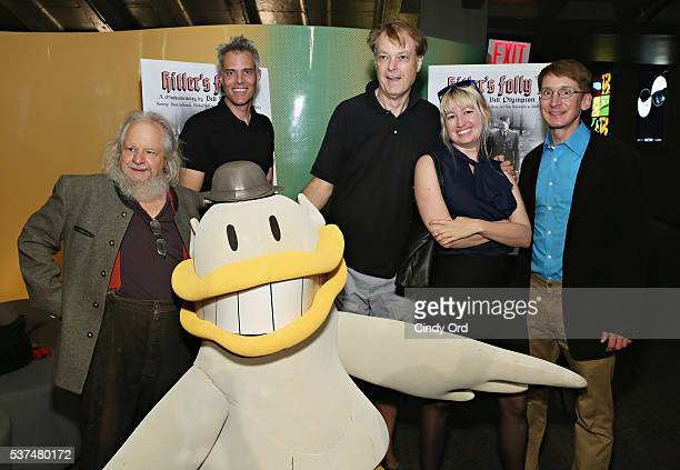 Michael Sullivan Dana Ashbrook Bill Plympton Eden S Bales Nate Steinwachs and Downy Duck attend the 'Hitler's Folly' New York Premiere at SVA Theatre...