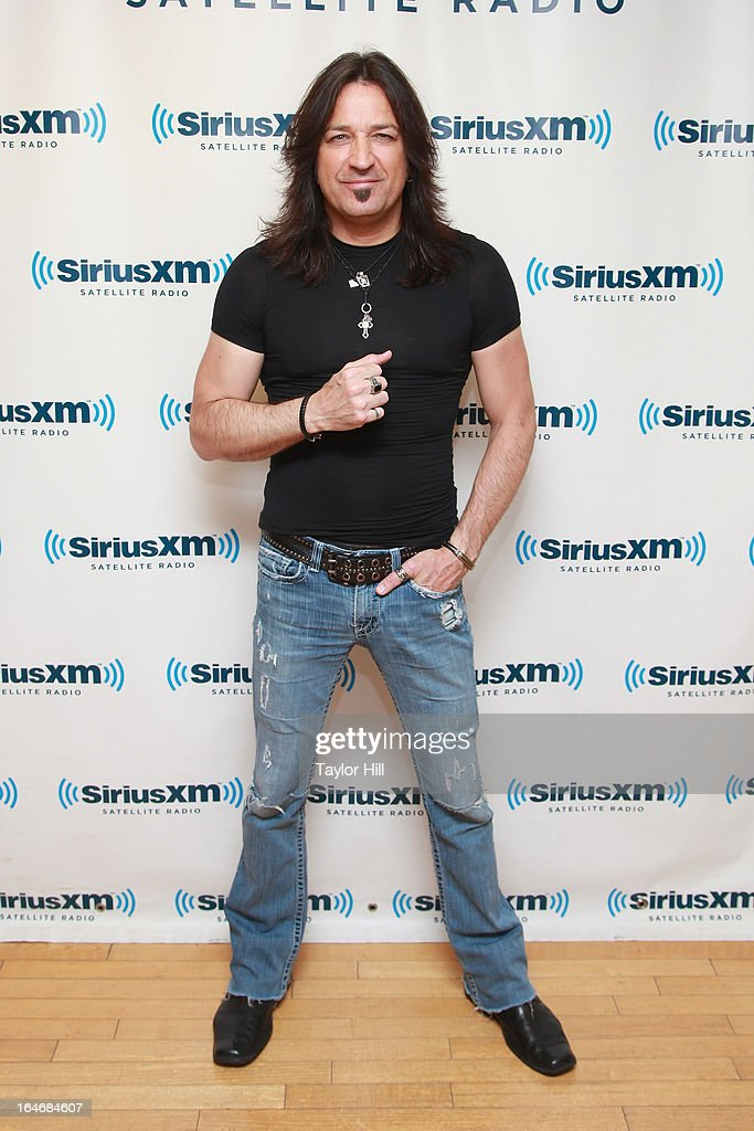 Michael Sweet of Stryper visits the SiriusXM Studios on March 26, 2013 in New York City.
