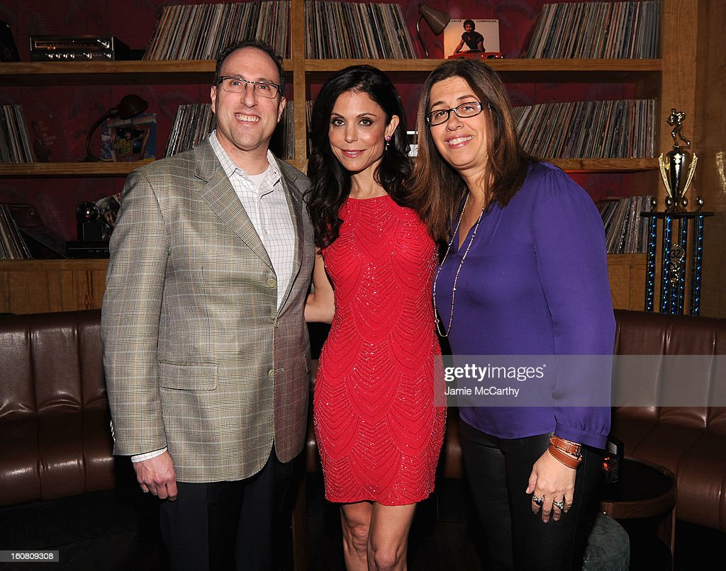 Michael Teicher, Executive Vice President, Warner Bros. Brand Networks, Talk Show Host Bethenny Frankel, and Hilary Estey McLoughlin, President, Telepictures Productions attend Warner Bros. Brand Networks, and Talk Show Host Bethenny Frankel, at a Warner Bros. Brand Networks Cocktail Party at No. 8 on February 5, 2013 in New York City.