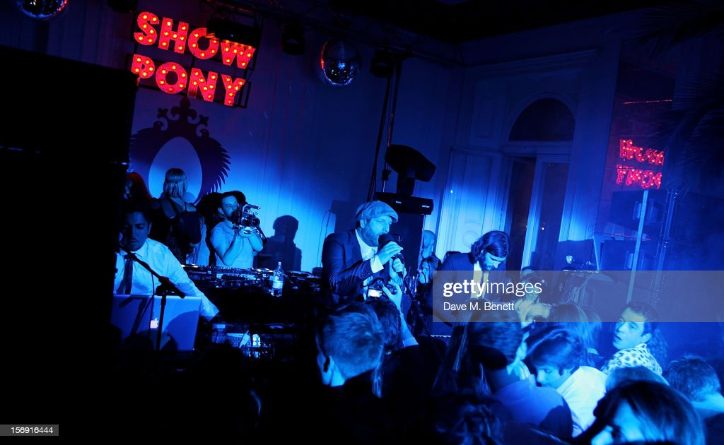 Michael Tello, Sammy D, and Ryan Williams of Pillow Talk perform at the Cuckoo Club and Show Pony pop up club, celebrating Cuckoo's 7th birthday, at 6 Grosvenor Place on November 24, 2012 in London, England.