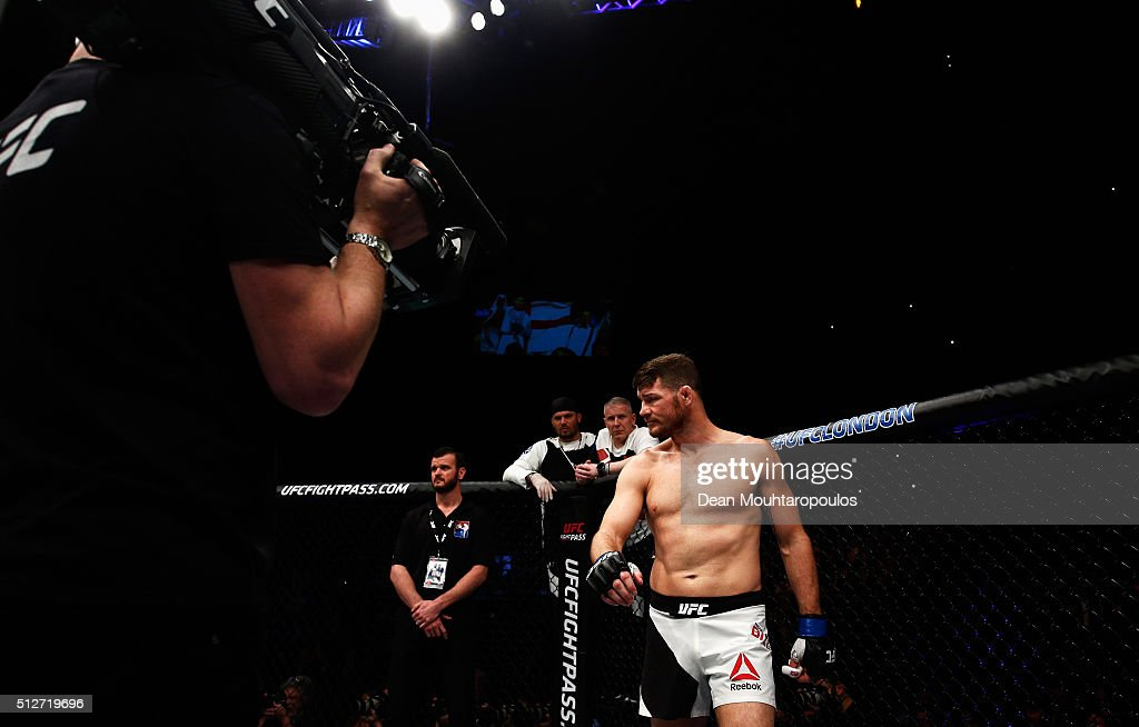 Michael 'The Count' Bisping of England makes his entrance as he gets ready to compete in his Middleweight bout against Anderson 'The Spider' Silva of...