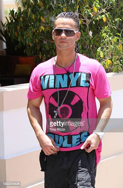Michael 'The Situation' Sorrentino is seen filming 'Jersey Shore' during the last day of filming in Miami Beach on May 21 2010 in Miami Beach Florida