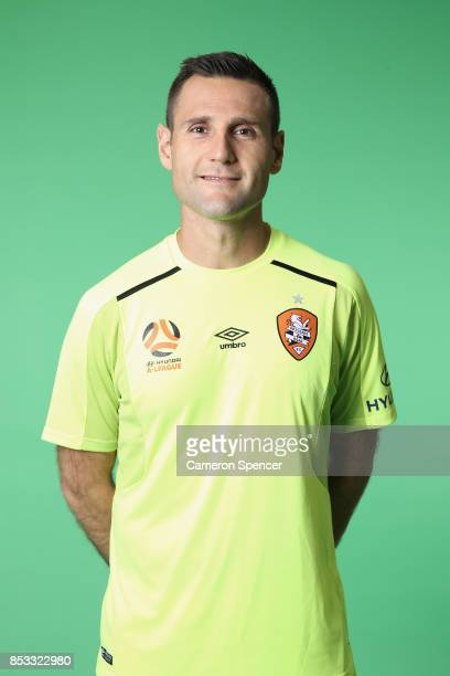 Michael Theo poses during the Brisbane Roar 2017/18 ALeague Headshots Session at Fox Sports Studios on September 15 2017 in Sydney Australia