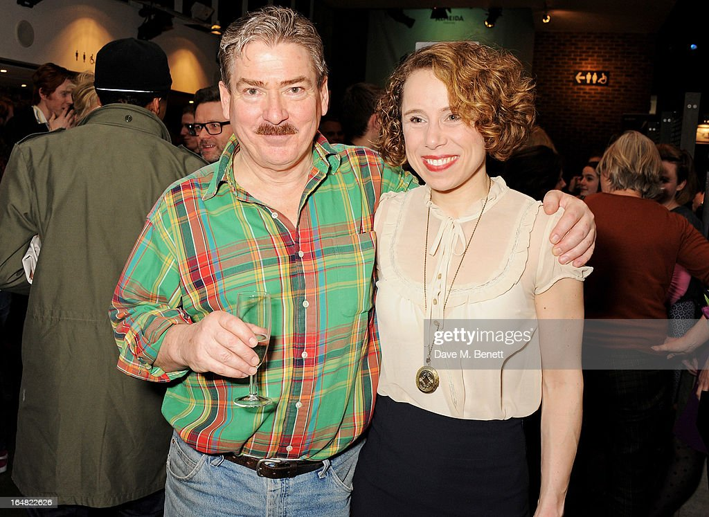 Michael Thomas (L) and Michelle Terry attend an after party following the press night performance of 'Before The Party' at the Almeida Theatre on March 28, 2013 in London, England.