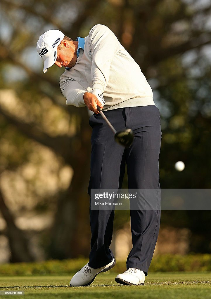 Michael Thompson hits his tee shot on the 14th hole during the final round of the Honda Classic at PGA National Resort and Spa on March 3, 2013 in Palm Beach Gardens, Florida.