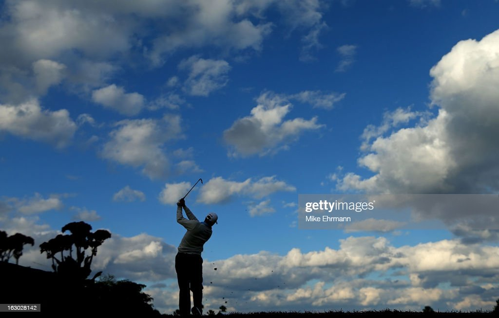 Michael Thompson hits his tee shot on the 15th hole during the final round of the Honda Classic at PGA National Resort and Spa on March 3, 2013 in Palm Beach Gardens, Florida.