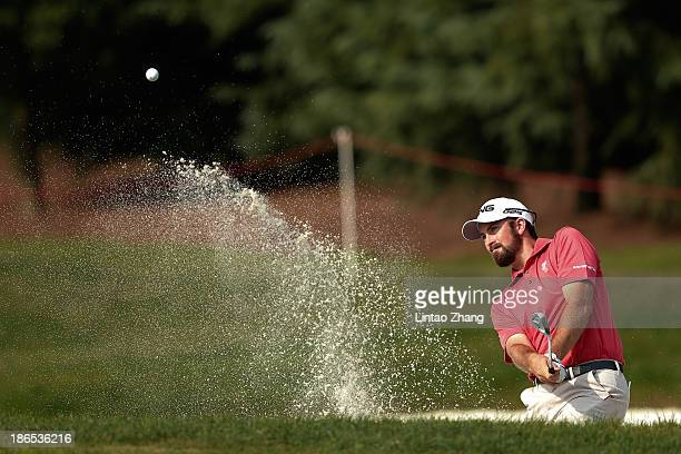 Michael Thompson of the United States in action during the second round of the WGC HSBC Champions at the Sheshan International Golf Club on November...