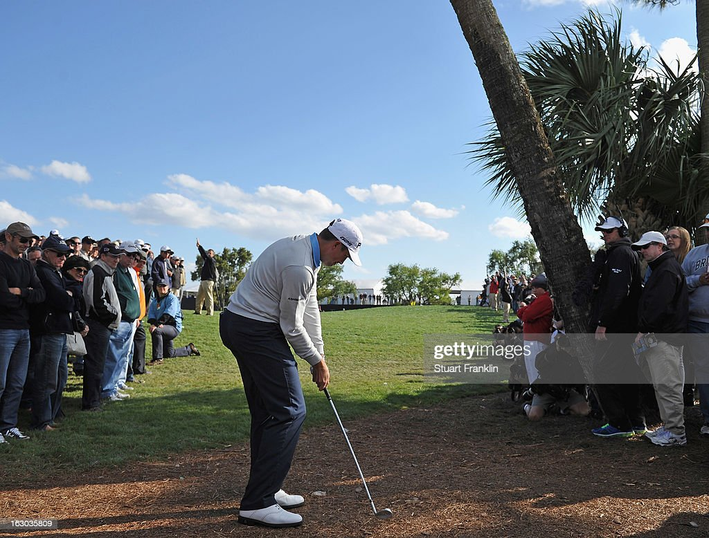 Michael Thompson of USA plays his approach shot on the 10th hole during the final round of the Honda Classic on March 3, 2013 in Palm Beach Gardens, Florida.