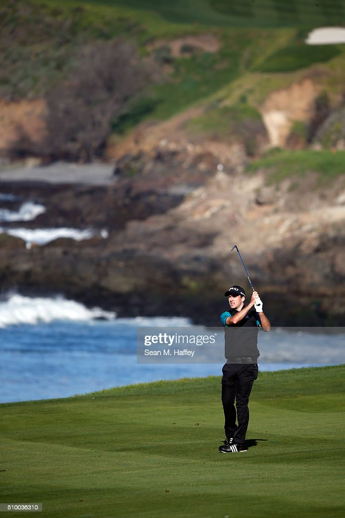 <a gi-track='captionPersonalityLinkClicked' href=/galleries/search?phrase=Michael+Thompson+-+Golfer&family=editorial&specificpeople=5406088 ng-click='$event.stopPropagation()'>Michael Thompson</a> plays a shot from the fairway on the 10th hole during round three of the AT&T Pebble Beach National Pro-Am at the Pebble Beach Golf Links on February 13, 2016 in Pebble Beach, California.