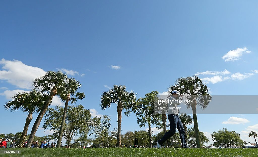 Michael Thompson walks off the fourth hole during the final round of the Honda Classic at PGA National Resort and Spa on March 3, 2013 in Palm Beach Gardens, Florida.