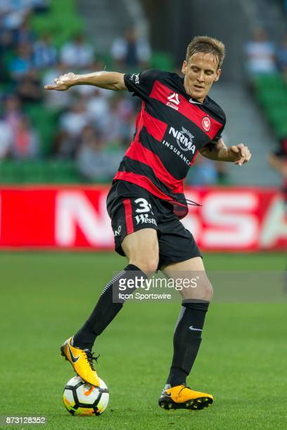 Michael Thwaite of the Western Sydney Wanderers controls the ball during Round 6 of the Hyundai ALeague Series between Melbourne City and the Western...