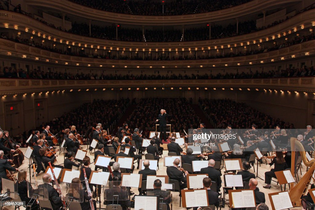 Michael Tilson Thomas leading the Philadelphia Orchestra in Berlioz's 'Symphony Fantastique' at Carnegie Hall on Friday night December 6 2013