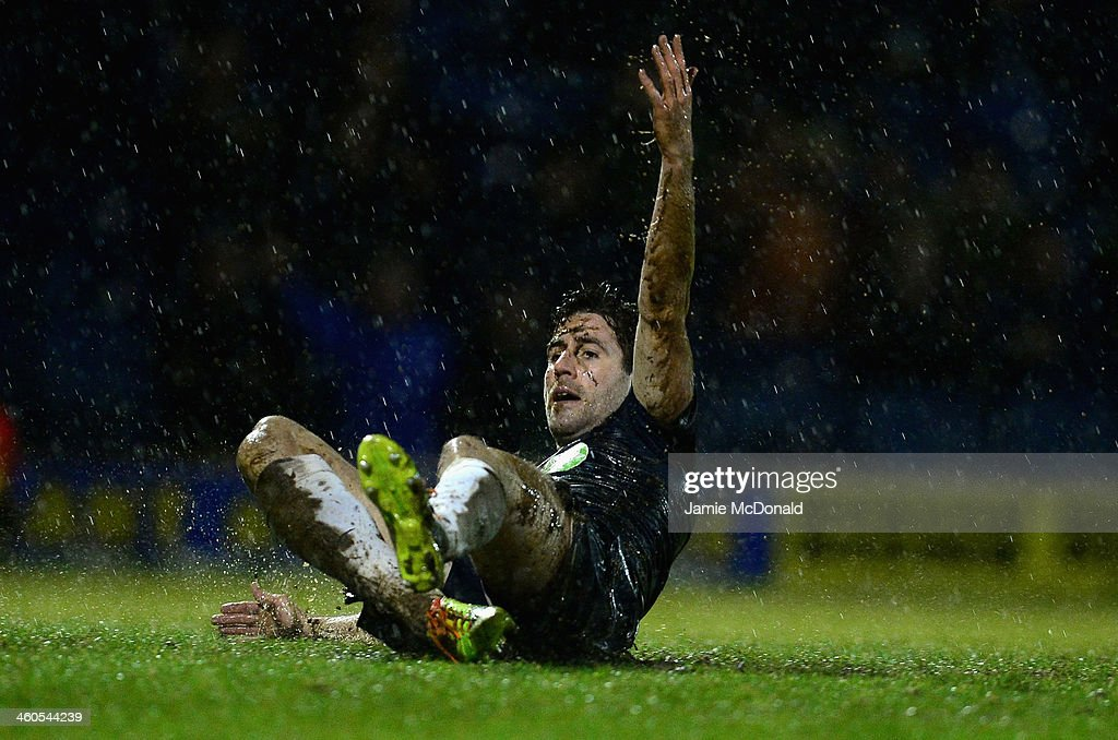 Michael Timlin of Southend looks on during the FA Cup Third Round match between Southend United and Millwall at Roots Hall on January 4, 2014 in Southend, England.