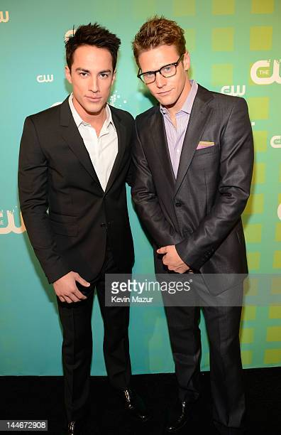 Michael Trevino and Zach Roerig attends the CW Network's 2012 Upfront at The London Hotel on May 17 2012 in New York City