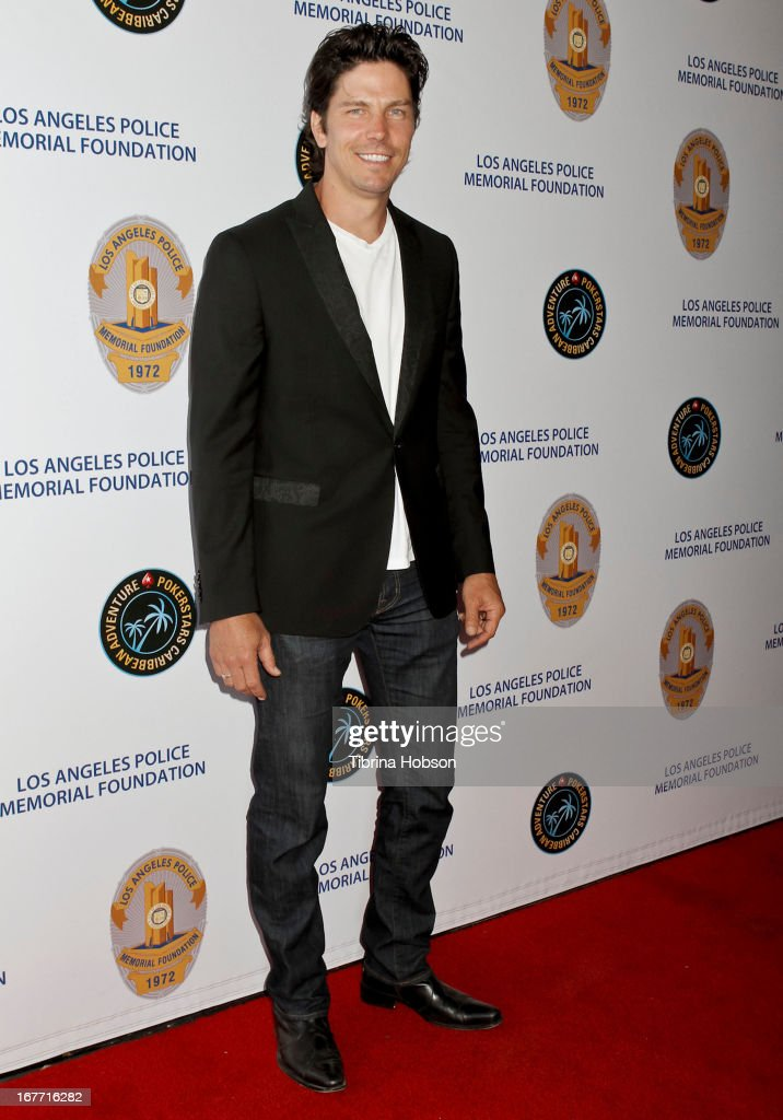 <a gi-track='captionPersonalityLinkClicked' href=/galleries/search?phrase=Michael+Trucco&family=editorial&specificpeople=4069549 ng-click='$event.stopPropagation()'>Michael Trucco</a> attends the Los Angeles Police Memorial Foundation's celebrity poker tournament at Saban Theatre on April 27, 2013 in Beverly Hills, California.
