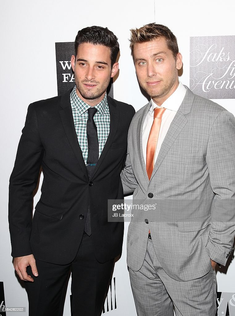 Michael Turchian and Lance Bass attend 'An Evening' benefiting The L.A. Gay & Lesbian Center at the Beverly Wilshire Four Seasons Hotel on March 21, 2013 in Beverly Hills, California.