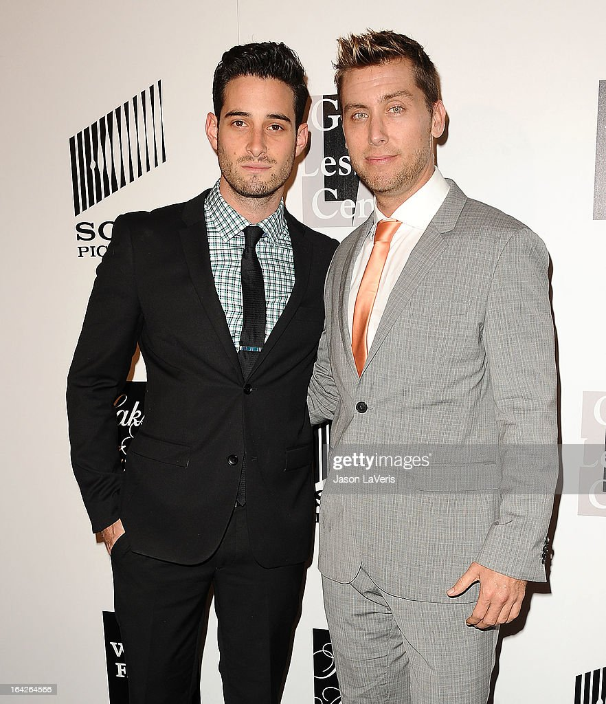 Michael Turchin and <a gi-track='captionPersonalityLinkClicked' href=/galleries/search?phrase=Lance+Bass&family=editorial&specificpeople=210566 ng-click='$event.stopPropagation()'>Lance Bass</a> attend 'An Evening' benefiting The L.A. Gay & Lesbian Center at the Beverly Wilshire Four Seasons Hotel on March 21, 2013 in Beverly Hills, California.