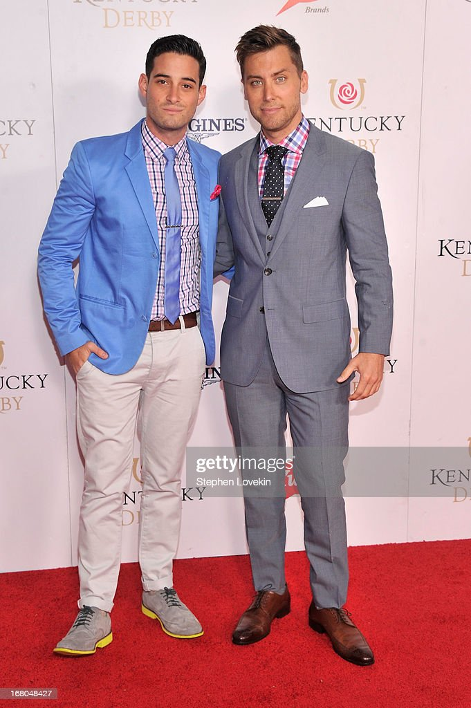 Michael Turchin and Lance Bass attend the 139th Kentucky Derby at Churchill Downs on May 4, 2013 in Louisville, Kentucky.