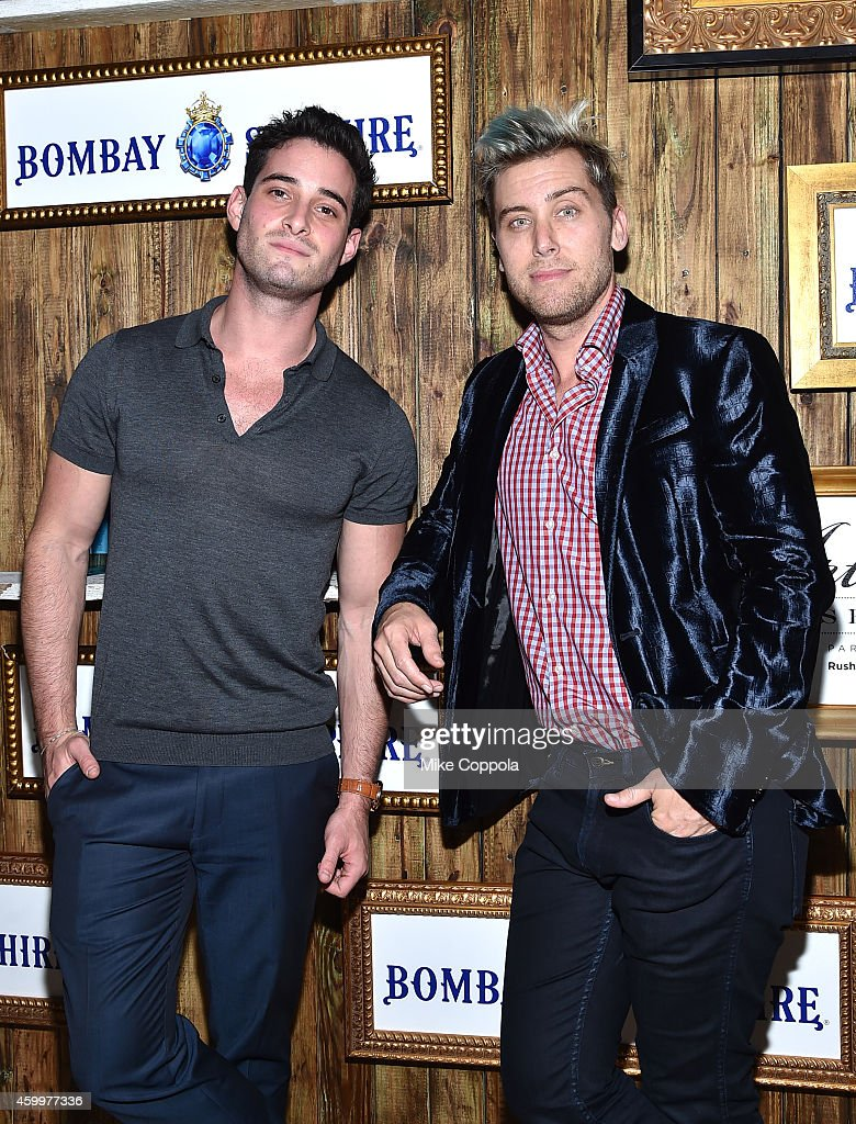 Michael Turchin and Lance Bass attend the 5th Annual Bombay Sapphire Artisan Series Finale at Tent at Soho Beach House on December 4, 2014 in Miami, Florida.