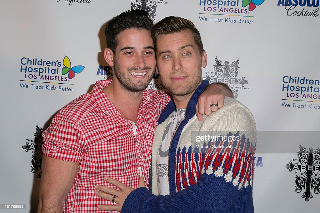 Michael Turchin (L) and singer Lance Bass attend The Abbey's 8th annual Christmas in September event benefiting The Children's Hospital Los Angeles at The Abbey on September 24, 2013 in West Hollywood, California.