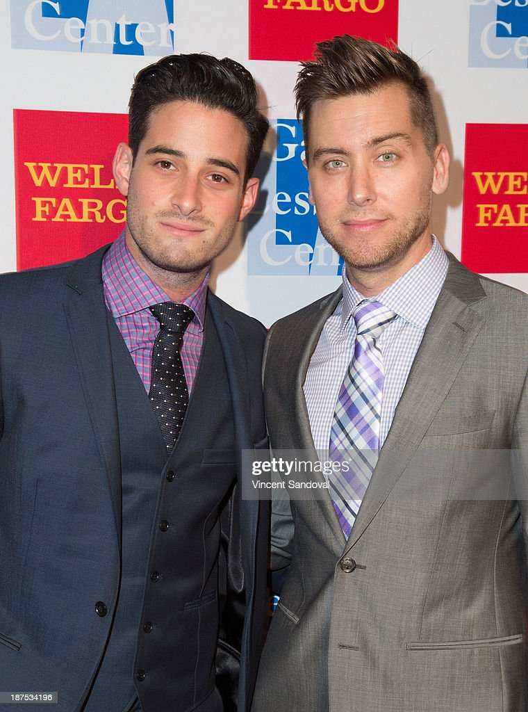 Michael Turchin (L) and singer <a gi-track='captionPersonalityLinkClicked' href=/galleries/search?phrase=Lance+Bass&family=editorial&specificpeople=210566 ng-click='$event.stopPropagation()'>Lance Bass</a> attend the L.A. Gay & Lesbian Center's 42nd Anniversary Vanguard Awards Gala at Westin Bonaventure Hotel on November 9, 2013 in Los Angeles, California.