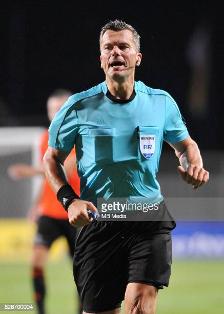 Michael Tykgaard reacts during the UEFA Europa League Qualifier between MFK Ruzomberok and Everton on August 3 2017 in Ruzomberok Slovakia