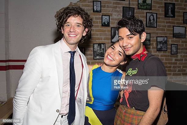 Michael Uri America Ferrera and Mark Indelicato attend the Ugly Betty Reunion After Party presented with Entertainment Weekly sponsored by Toyota at...