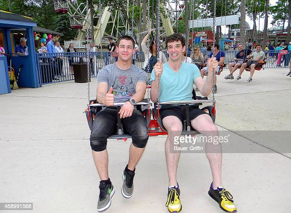 Michael Urie and Nick Jonas are seen on May 23 2012 in Jackson New Jersey