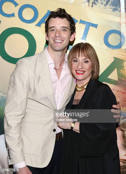 Michael Urie and Patti LuPone during the Opening Night Photo Opportunity for The Lincoln Center Theatre Production of 'Shows For Days' at The Mitzi E...