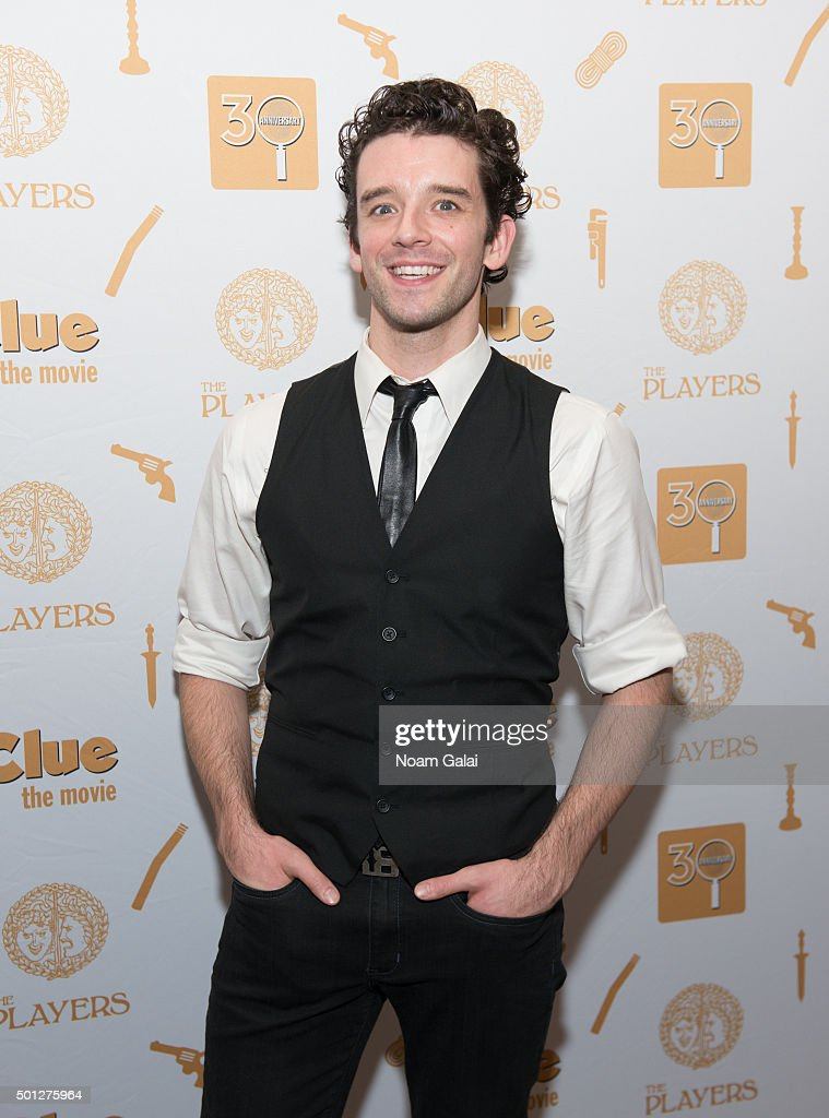 Michael Urie attends 'Clue' 30th anniversary celebration at The Players Theatre on December 13, 2015 in New York City.