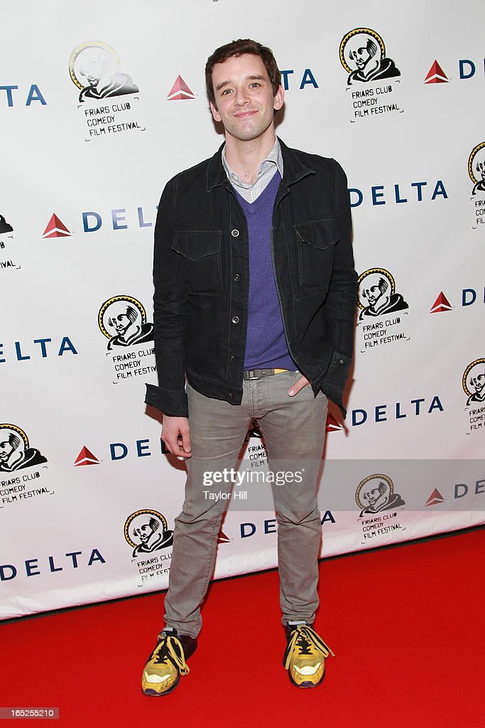 <a gi-track='captionPersonalityLinkClicked' href=/galleries/search?phrase=Michael+Urie&family=editorial&specificpeople=883711 ng-click='$event.stopPropagation()'>Michael Urie</a> attends the Friars Club Fifth Annual Comedy Film Festival Opening Night at NYU Cantor Film Center on April 1, 2013 in New York City.