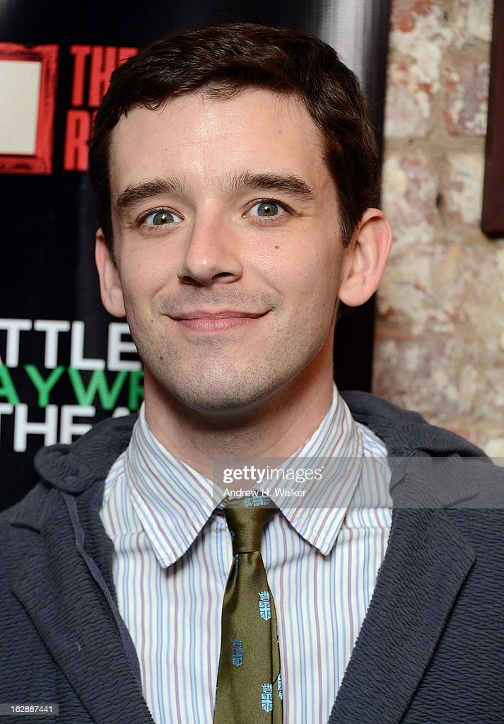 Michael Urie attends 'The Revisionist' opening night at Cherry Lane Theatre on February 28, 2013 in New York City.