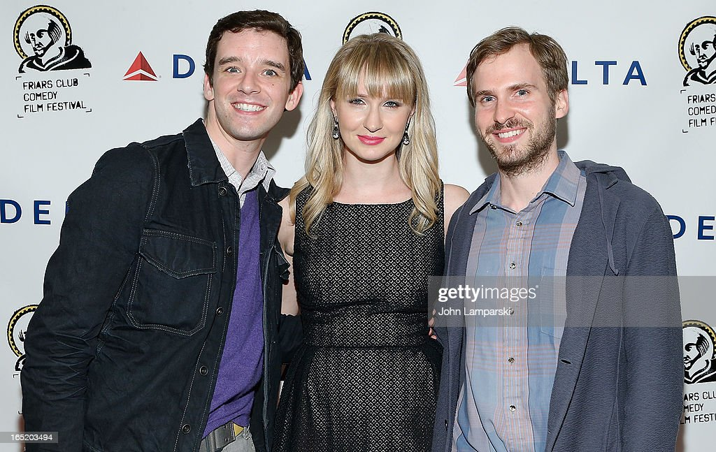 <a gi-track='captionPersonalityLinkClicked' href=/galleries/search?phrase=Michael+Urie&family=editorial&specificpeople=883711 ng-click='$event.stopPropagation()'>Michael Urie</a>, <a gi-track='captionPersonalityLinkClicked' href=/galleries/search?phrase=Halley+Feiffer&family=editorial&specificpeople=2083909 ng-click='$event.stopPropagation()'>Halley Feiffer</a> and Ryan Spahn attend the Friars Club Fifth Annual Comedy Film Festival Opening Night at NYU Cantor Film Center on April 1, 2013 in New York City.