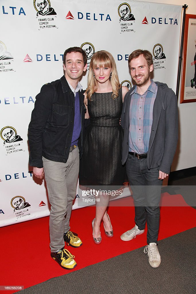<a gi-track='captionPersonalityLinkClicked' href=/galleries/search?phrase=Michael+Urie&family=editorial&specificpeople=883711 ng-click='$event.stopPropagation()'>Michael Urie</a>, <a gi-track='captionPersonalityLinkClicked' href=/galleries/search?phrase=Halley+Feiffer&family=editorial&specificpeople=2083909 ng-click='$event.stopPropagation()'>Halley Feiffer</a>, and Ryan Spahn attend the Friars Club Fifth Annual Comedy Film Festival Opening Night at NYU Cantor Film Center on April 1, 2013 in New York City.