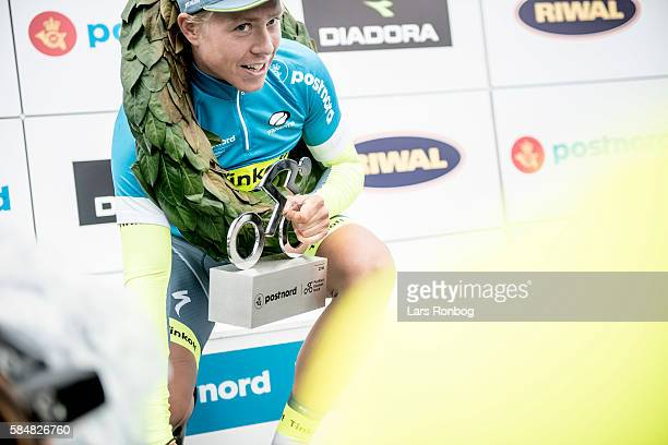Michael Valgren of Tinkoff wins the Tour of Denmark 2016 after stage five at the Postnord Danmark Rundt race between Karrebaksminde and Copenhagen on...