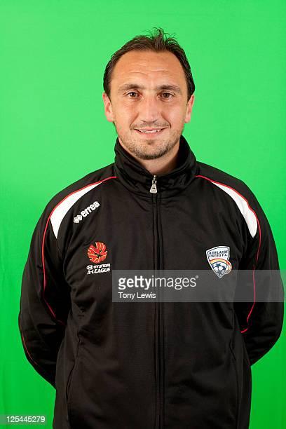 Michael Valkanis poses during the Adelaide United ALeague headshots session at Hindmarsh Stadium on September 15 2011 in Adelaide Australia